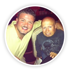 Scott Messina and Vern Troyer